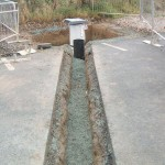 Sewer drainage and septic tank installation